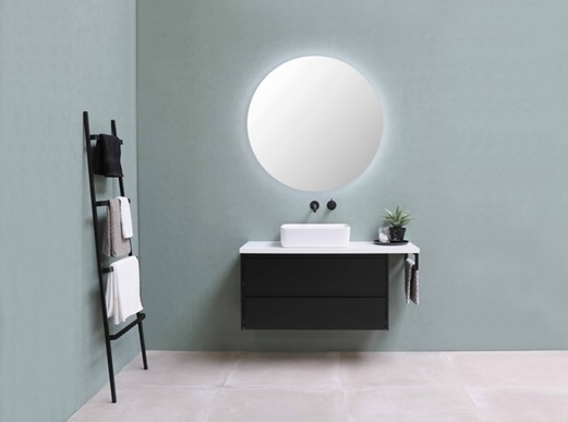 bathroom with sink and light
